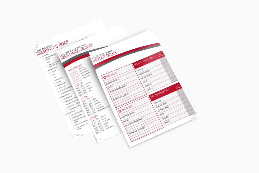 The checklists are printed and laid out on a table.