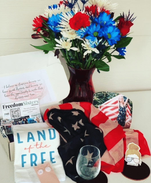 Land of the Free tea towel from Moss & Pine, featured in MilSoBox.